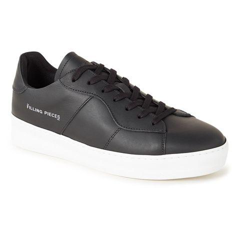 filling pieces low plain court zwarte sneakers witte zool