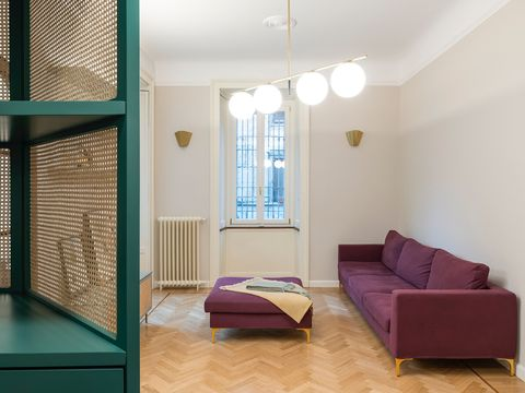 interiorismo vintage en un departamento de milán