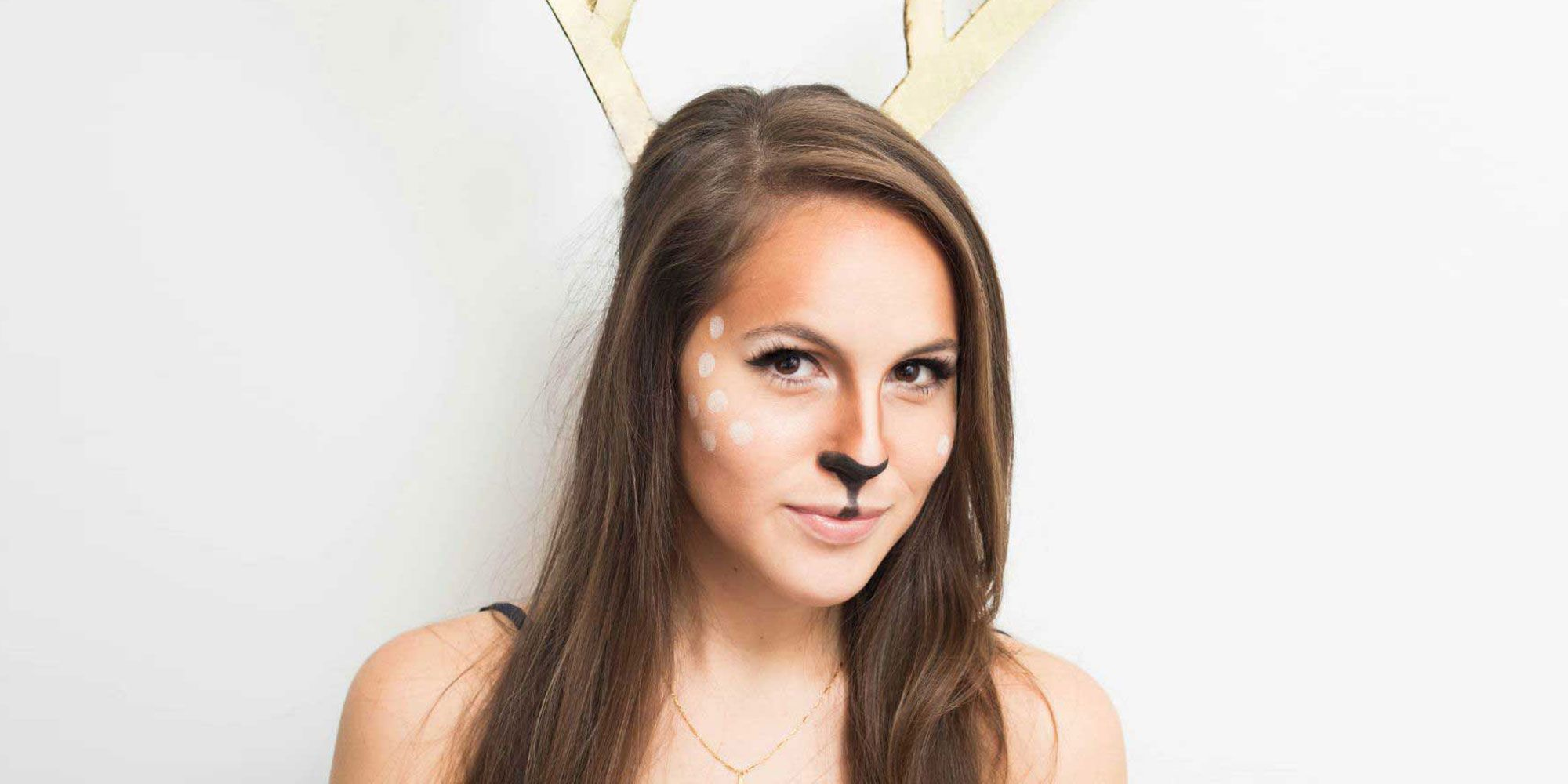 Easy Deer Halloween Makeup Tutorial
