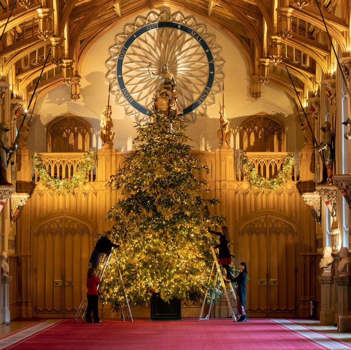 Inside Windsor Castle at Christmas