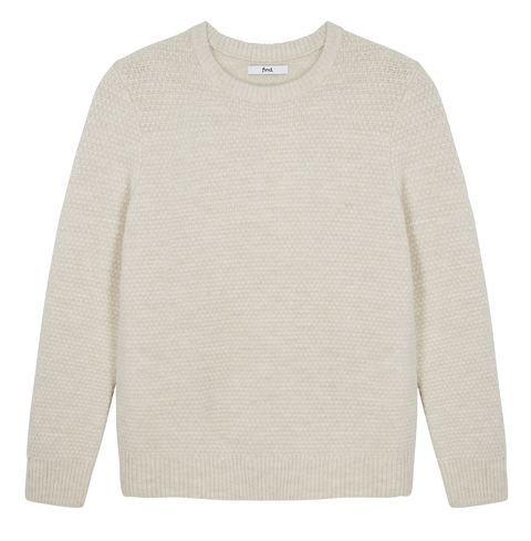 Clothing, White, Sweater, Sleeve, Jersey, Outerwear, Beige, Long-sleeved t-shirt, Wool, Top,