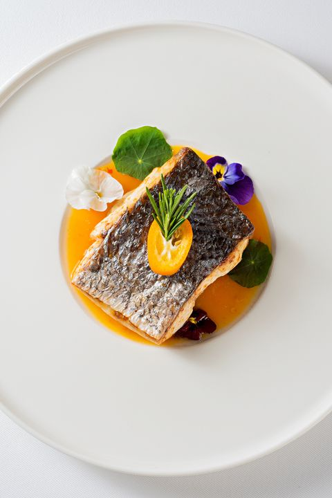 Fine Dining Grilled Sea Bass