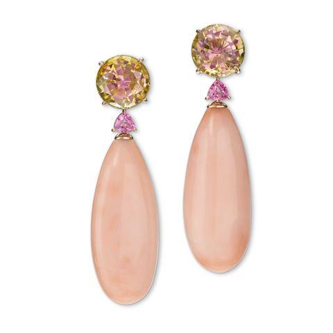 Finer Things Coral Earrings Veranda