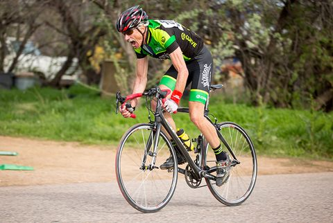 finish bike race scream