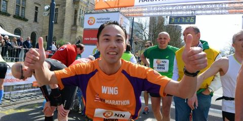 marathonloper, finish, gedachten, gifjes