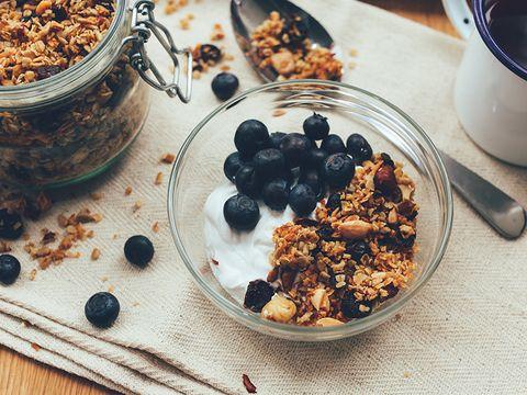 Dish, Food, Cuisine, Meal, Granola, Breakfast, Breakfast cereal, Ingredient, Snack, Muesli,