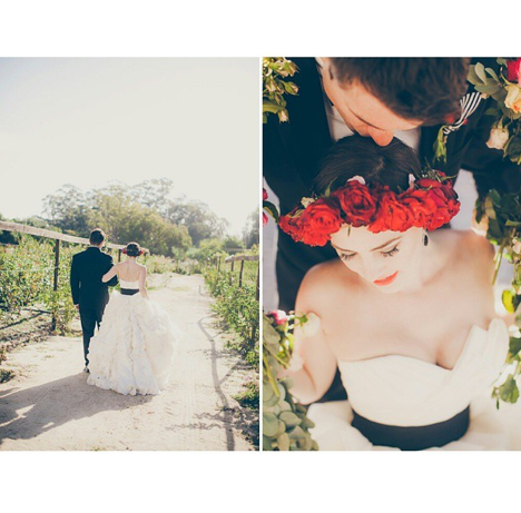 Clothing, Petal, Dress, Photograph, Bridal clothing, Happy, Bride, Wedding dress, People in nature, Formal wear,
