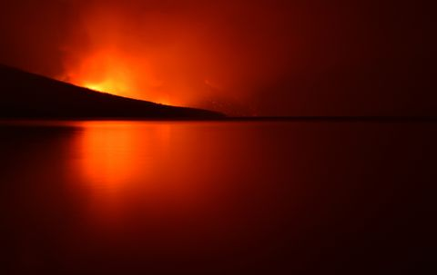 Sky, Horizon, Nature, Red, Orange, Reflection, Sunset, Afterglow, Sunrise, Light,
