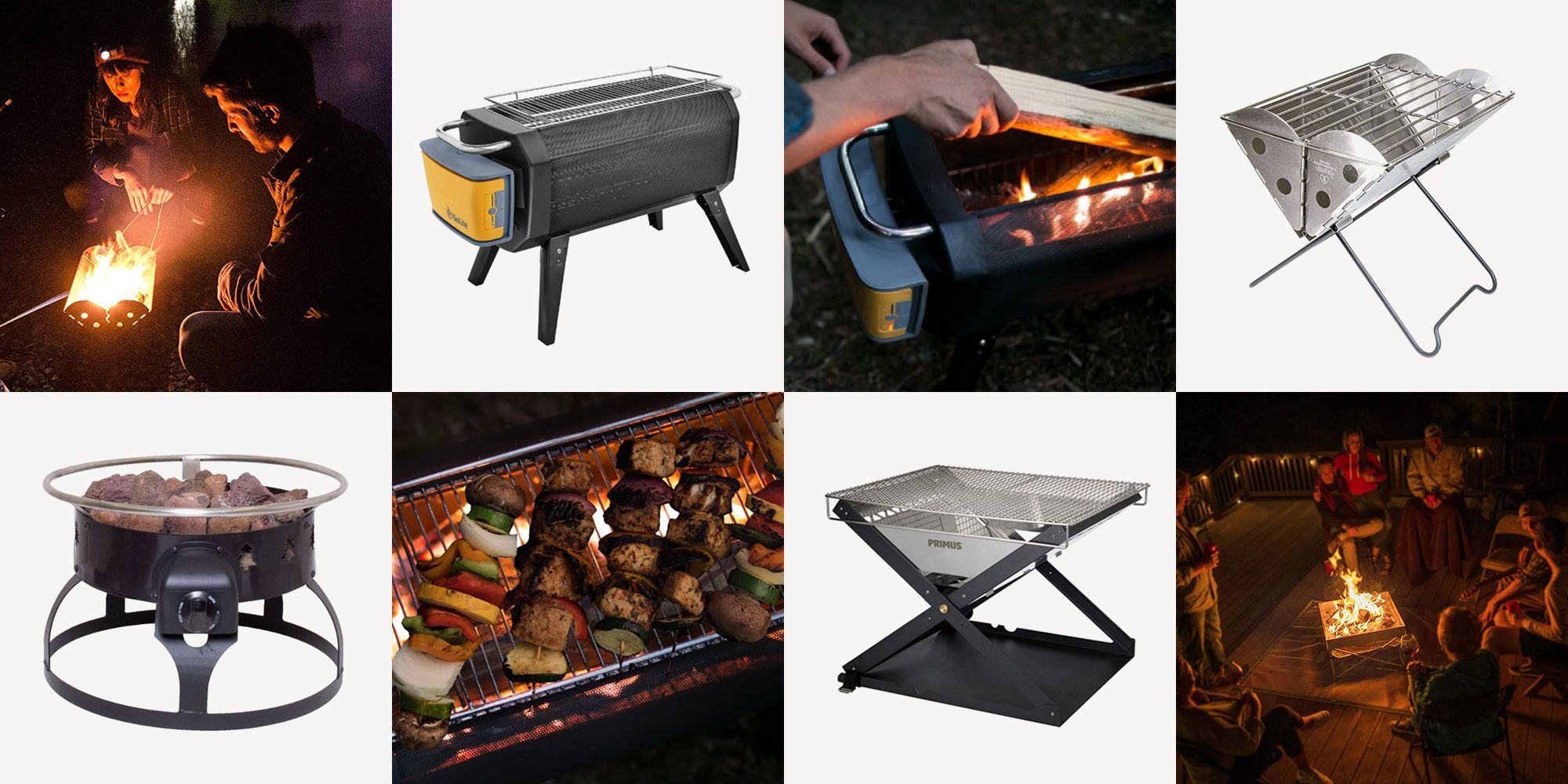 Large Cook Top Portable Flat Pack Fire Pit Charcoal BBQ