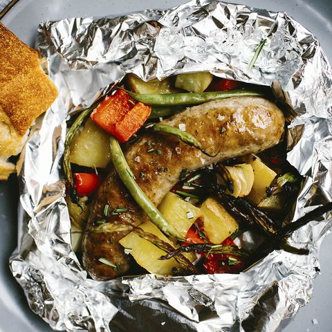 Fire-Roasted Sausage and Vegetables with Creamy Dijon