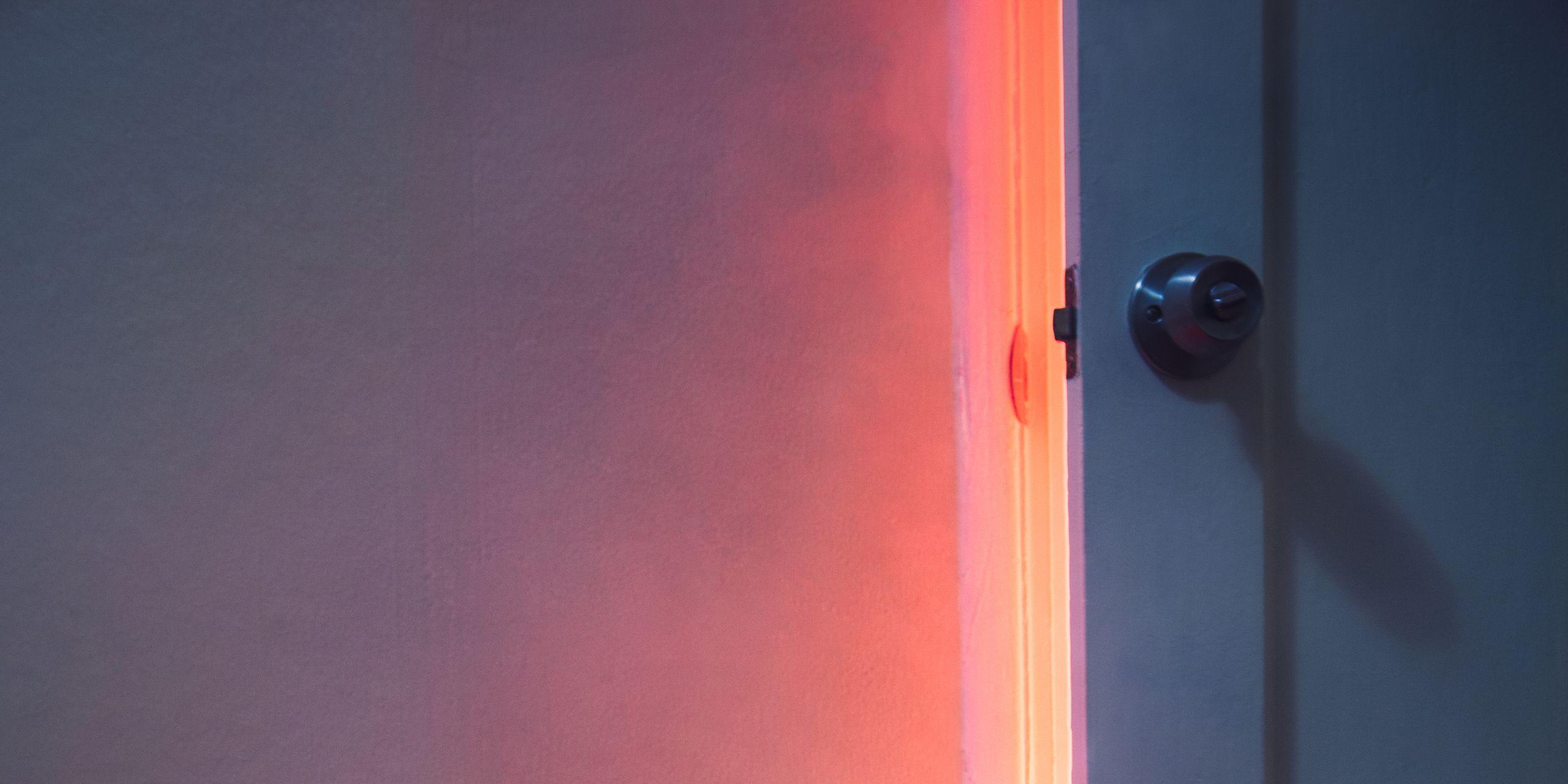 Fire Visible Through Bedroom Door