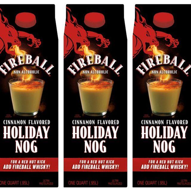 fireball cinnamon flavored holiday egg nog