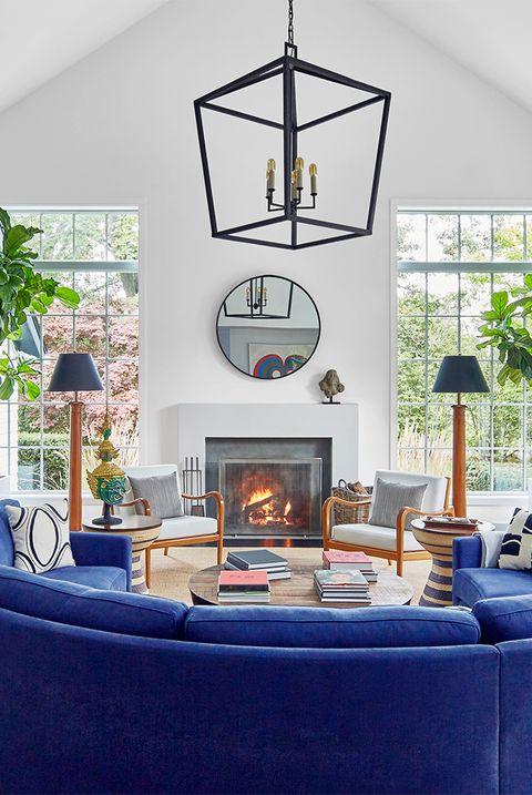 semicircle sofa in living room