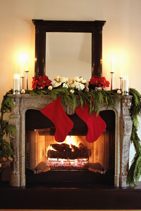 Fireplace Christmas.25 Christmas Mantel Decor Ideas Fireplace Holiday Decorations
