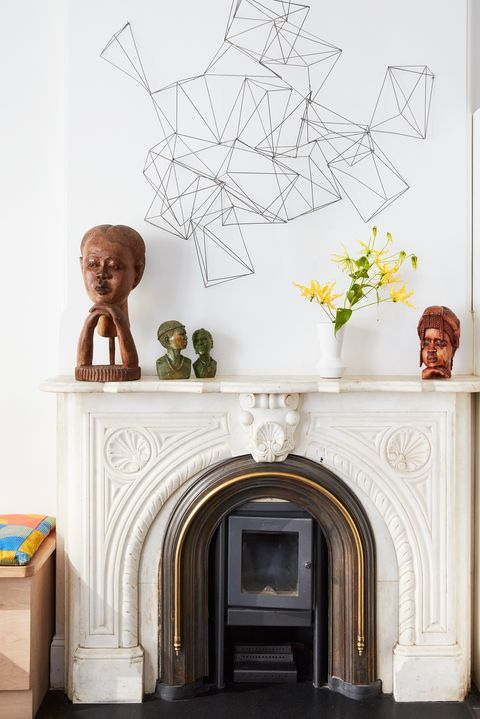 brownstone fireplace
