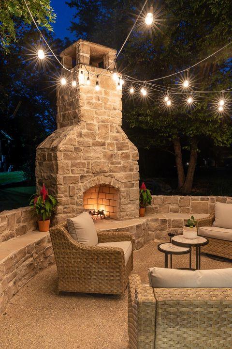 diy fireplace outdoor landscaping ideas