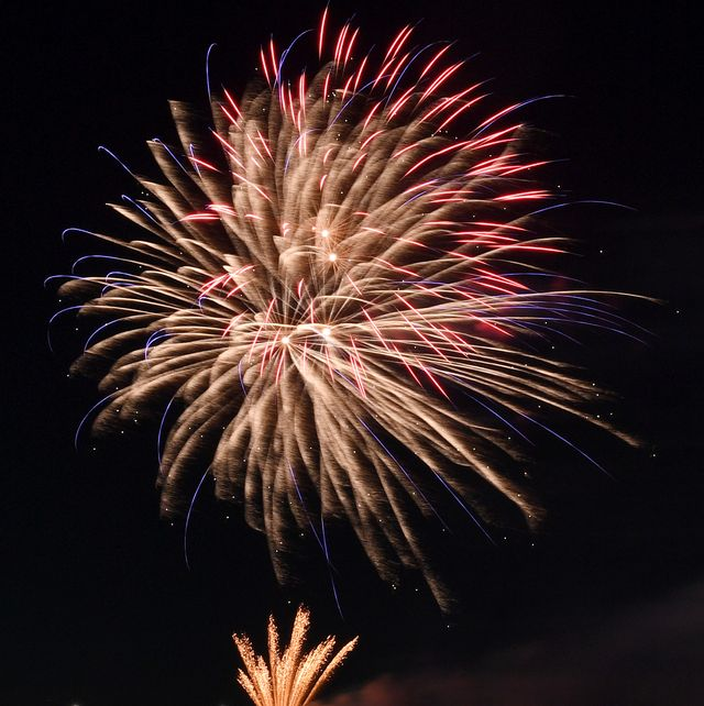 fourth of july fireworks display at the red rock resort