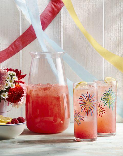 diy fireworks glassware