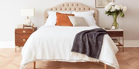 Bedroom, Furniture, Bed, Bed sheet, Bedding, White, Bed frame, Room, Nightstand, Duvet cover,