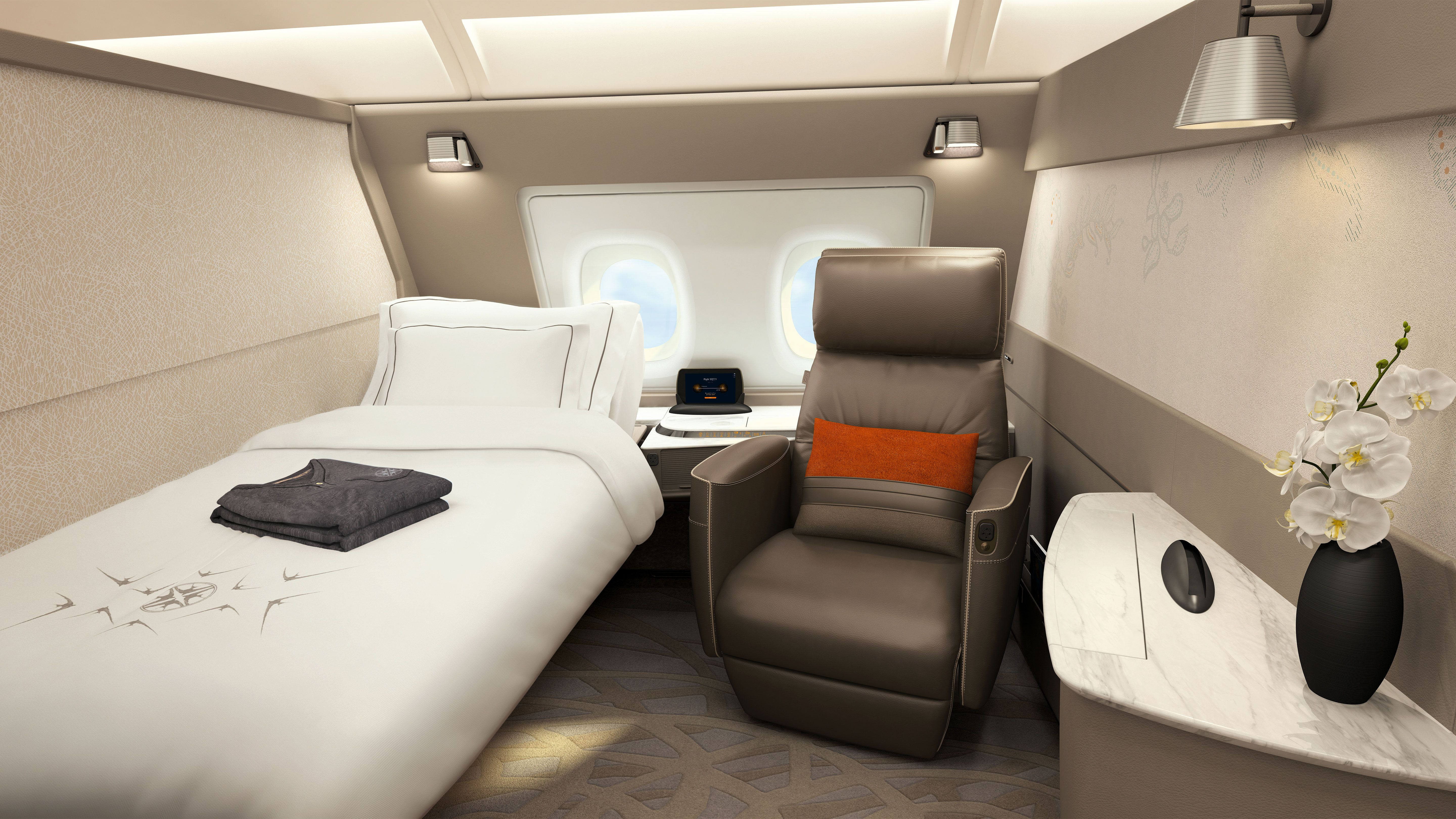 Poltrona First Class.Singapore Airlines New First Class Suites Ultra Luxurious