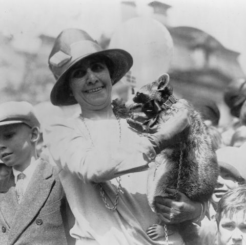 grace coolidge and her raccoon