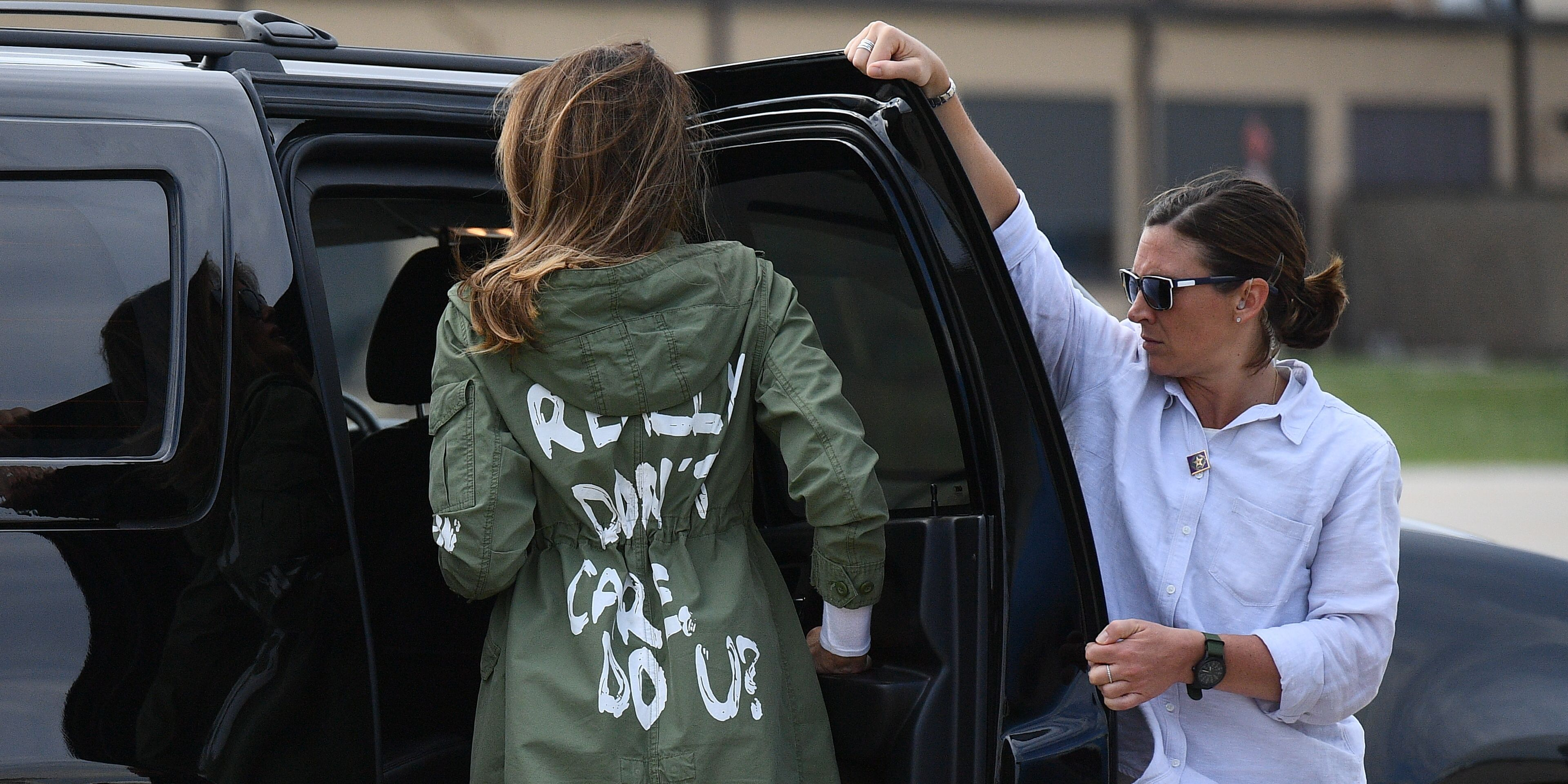 Melania Trump Tries To Explain I Really Dont Care Jacket One More Time