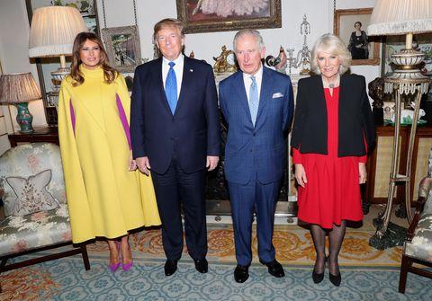 チャールズ皇太子 カミラ夫人 メラニア夫人 ドナルド・トランプ大統領