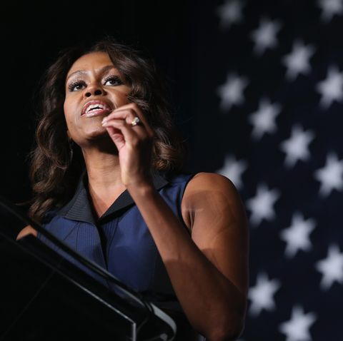first lady michelle obama campaigns for charlie crist in miami