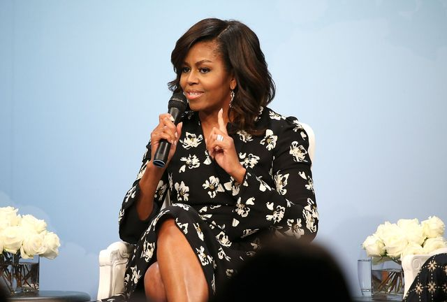 """glamour hosts """"a brighter future a global conversation on girls' education"""" with first lady michelle obama"""