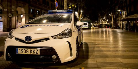 first night of curfew in barcelona