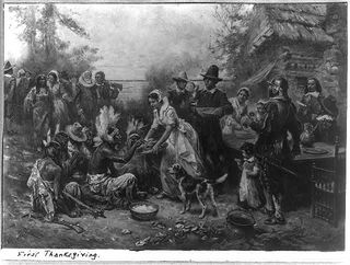 painting of first thanksgiving why we celebrate thanksgiving