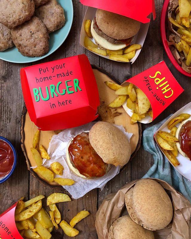 recetas de hamburguesas y patatas gajo de fit happy sisters