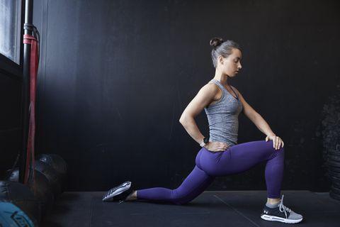 Strength training, Shoulder, Physical fitness, Sportswear, Leg, Arm, Human leg, Joint, Thigh, Lunge,