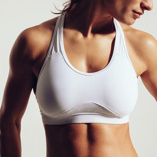 Fit woman in sports bra