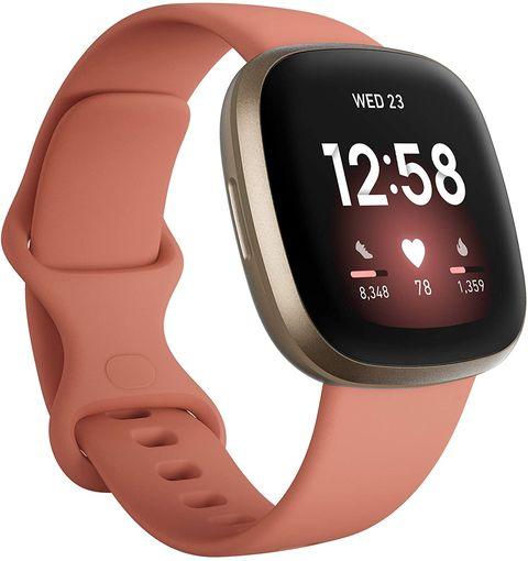fitbit versa 3 health  fitness smartwatch pink
