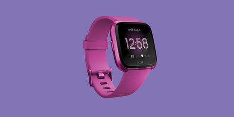 Watch, Digital clock, Pink, Purple, Violet, Magenta, Heart rate monitor, Technology, Gadget, Electronic device,