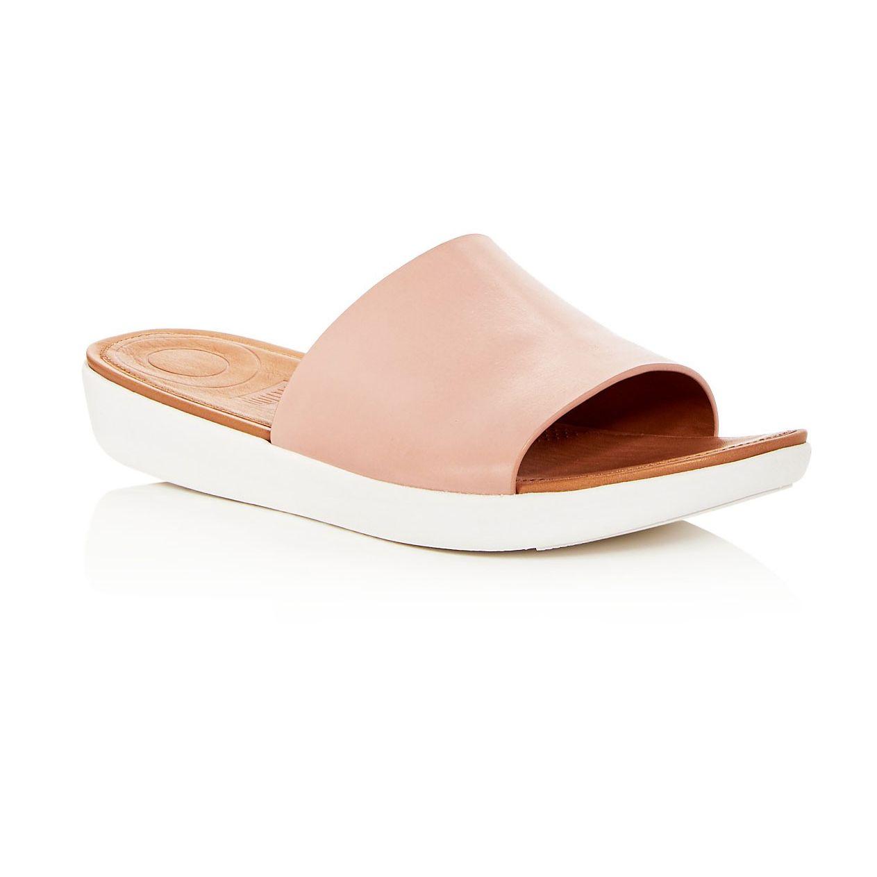 FitFlop Sola Leather Platform Slide Sandals