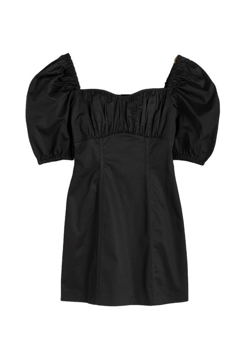 Clothing, Black, Sleeve, Dress, Shoulder, Blouse, Little black dress, Cocktail dress, Outerwear, Neck,