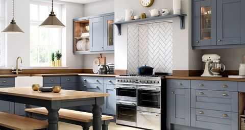 Countertop, Furniture, Cabinetry, Room, Kitchen, Property, Interior design, Drawer, Kitchen stove, Floor,