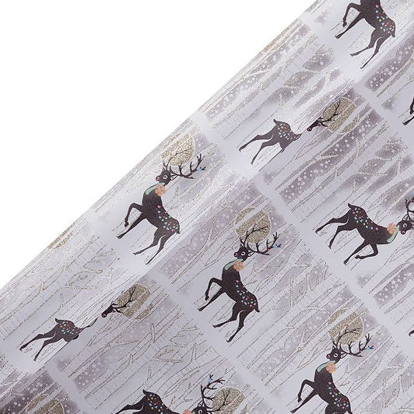 Five Dollar Shake Reindeer Gift Wrap, 2m