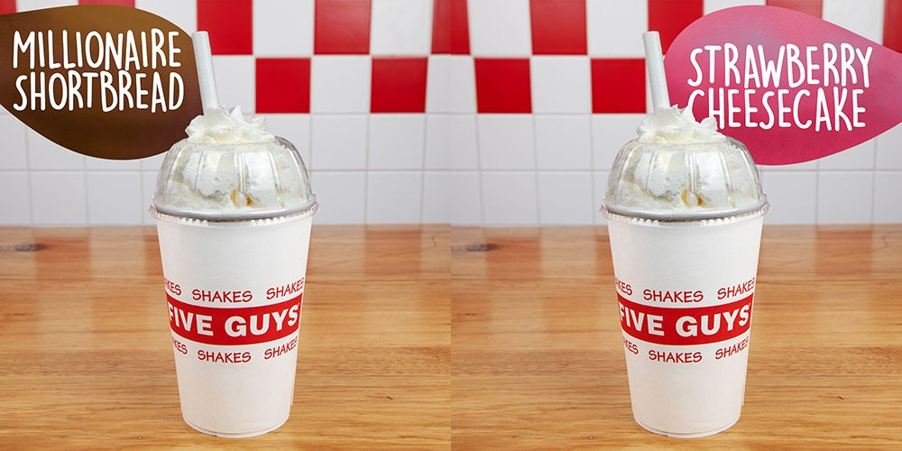 Five Guys Milkshake Range Now Includes A Millionaire S Shortbread Flavour