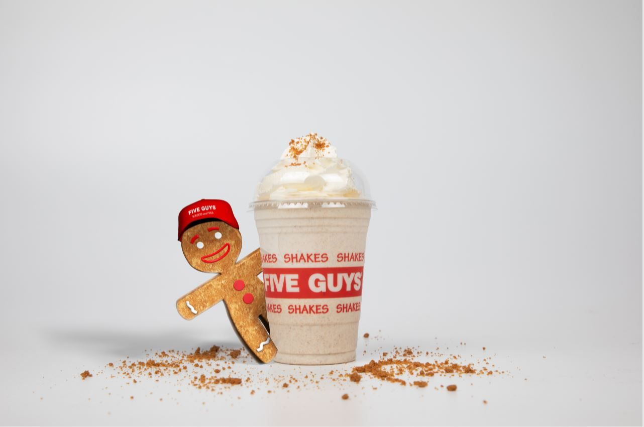Five Guy's New Gingerbread Milkshake Sounds Like Our Sort Of Drink