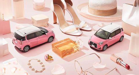 TOYOTA推出粉紅車車!玫瑰金內裝、珍珠白車頂