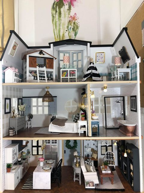 Fixer Upper Dollhouse Tour This Mom Decorated Her Kid