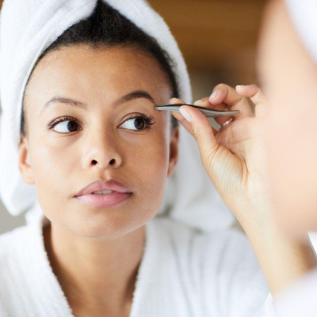 fixing eyebrows