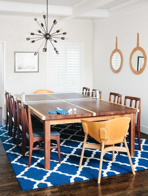 dining table, ping pong table