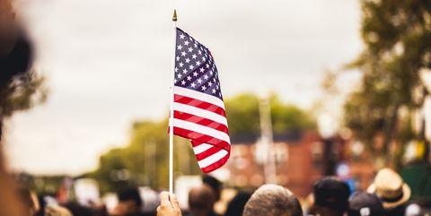 US flag during celebrations