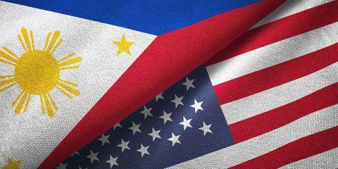 united states flag, philippines flag