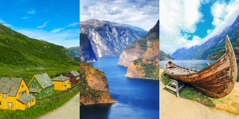 Natural landscape, Nature, Mountainous landforms, Fjord, Mountain, Water resources, Water, Sky, Highland, Landscape,