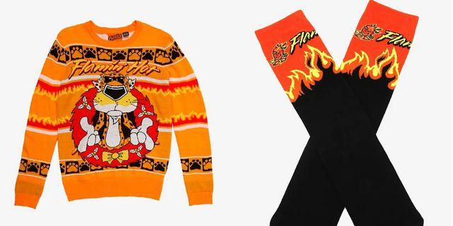 boxlunch flamin' hot cheetos sweater